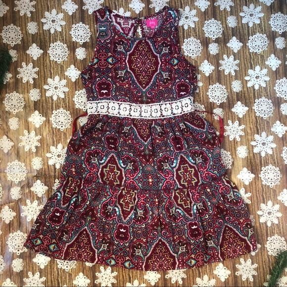 Pinky Other - Pinky Girls Flowy Paisley print Sleeveless Dress